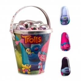 Cubo con Figuritas de Chocolate Trolls