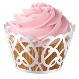 Cupcake Wraps Blanco perla de Wilton