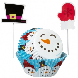 Cupcake Combo Snowman