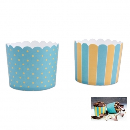 Muffin Wrapper Teal & Yellow