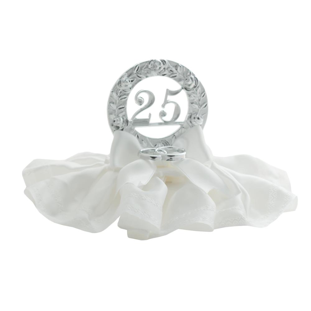 Decoración 25 aniversario con alianzas 10cm