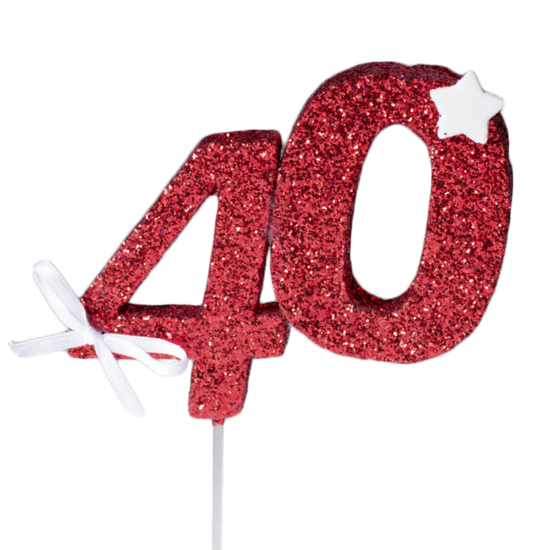 Decoración 40 Cumpleaños Roja