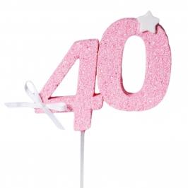 Decoración 40 Cumpleaños Rosa