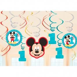 Decoración Colgante en Espirales Mickey Mouse 1 año