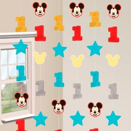 Decoración Colgante en Tiras Mickey Mouse 1 año