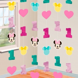 Decoración Colgante en Tiras Minnie Mouse 1 año
