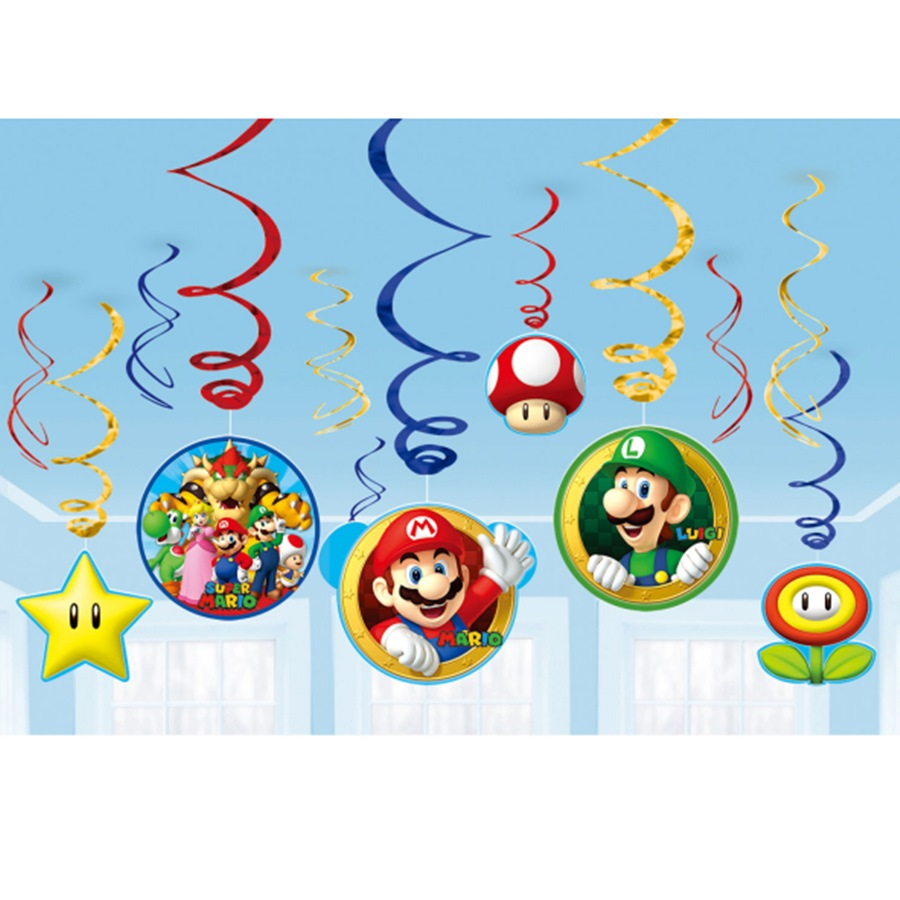 Decoración Colgante Espiral Super Mario