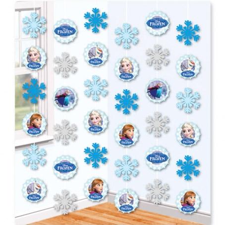 Decoración colgante Frozen copos de Nieve