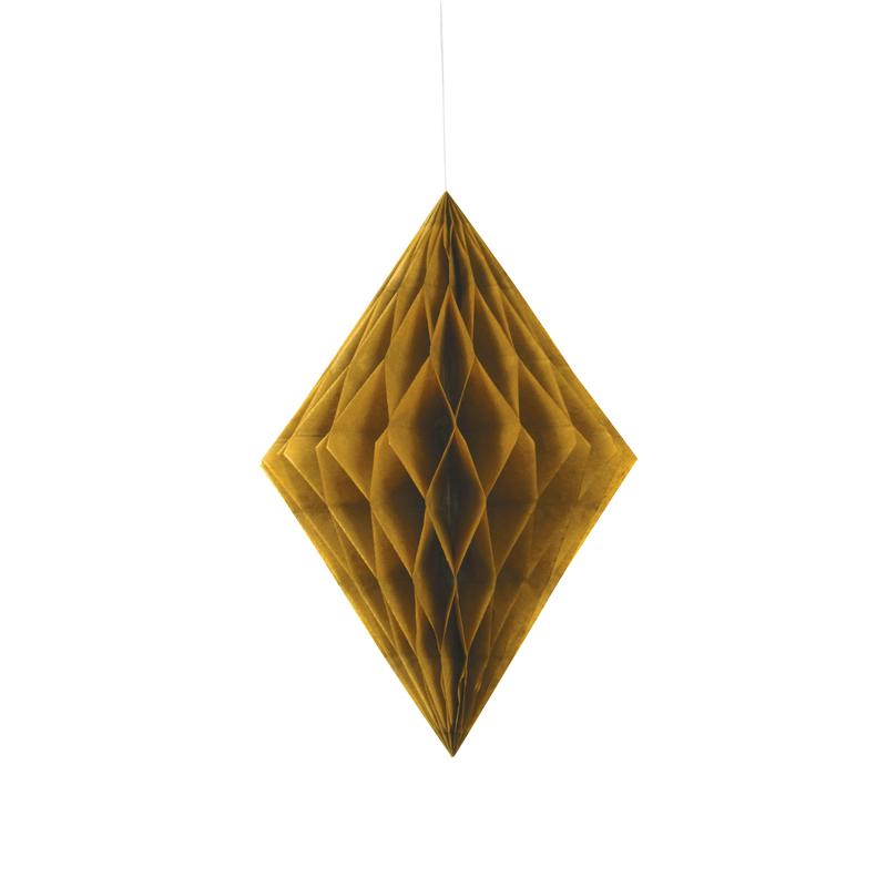 Decoración Colgante Rombo Oro 35 cm