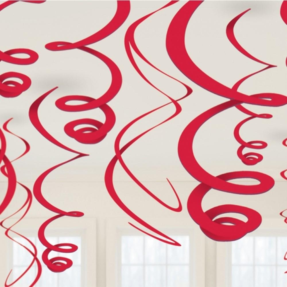 Decoración Colgante Serpentina Roja 55 cm