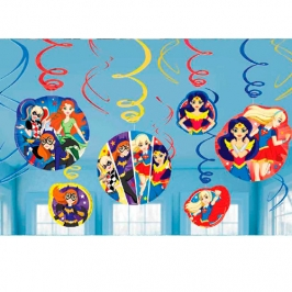Decoración Colgante Super Hero Girls