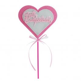 Decoración Corazón Feliz Cumpleaños Rosa