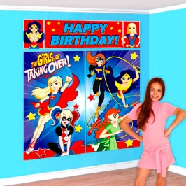 Decoración de pared Super Hero Girls
