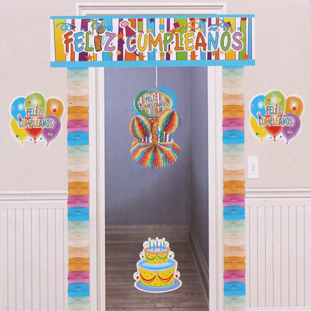 Set Decoración Feliz Cumpleaños