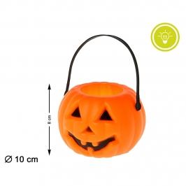 Decoración Halloween Calabaza con Luz 8 cm