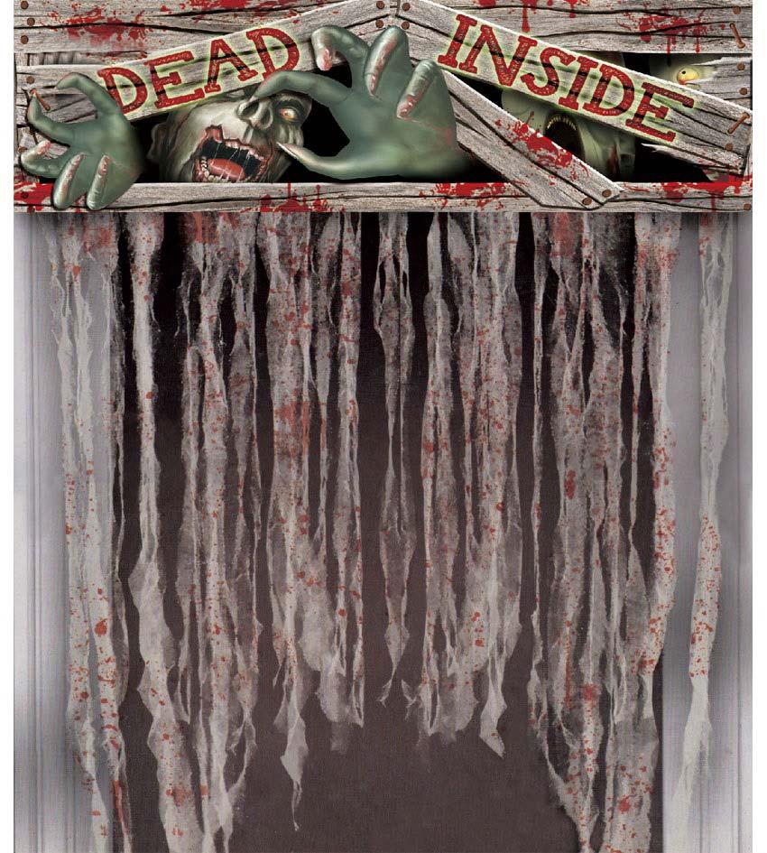 Decoración para puerta Cortina Dead Inside
