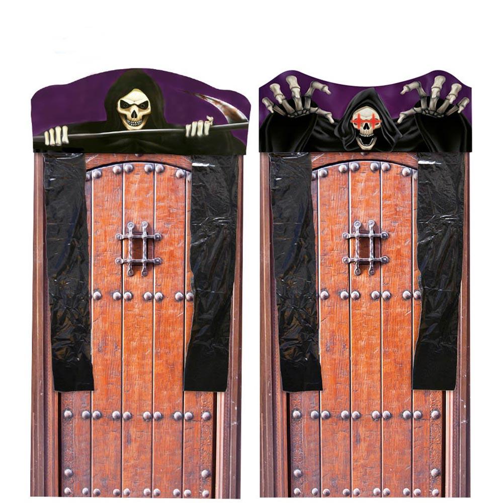 Decoración para Puerta Cortina Esqueleto con Luz