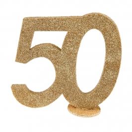 Decoración para Tarta 50 años Oro 10 cm