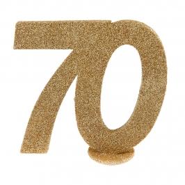 Decoración para Tarta 70 Cumpleaños Oro 10 cm