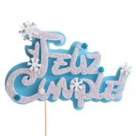 Decoración para tarta Feliz Cumple Frozen