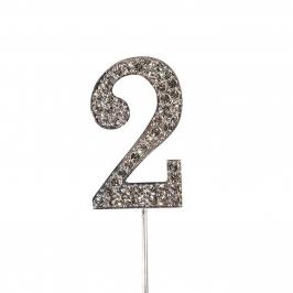 Decoración para Tarta Número 2 Diamante