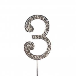 Decoración para Tarta Número 3 Diamante