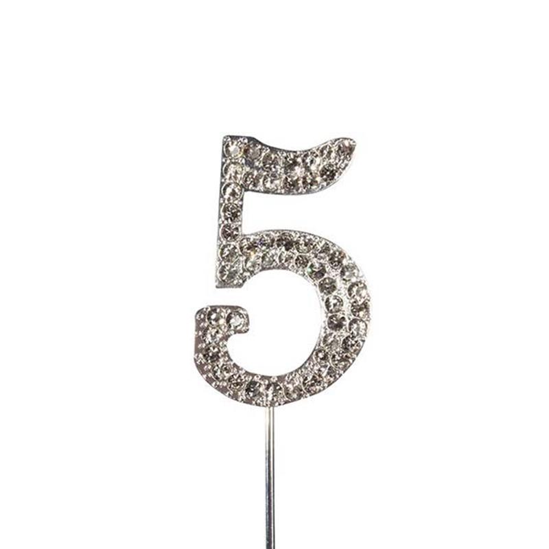 Decoración para Tarta Número 5 Diamante