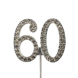 Decoración para Tarta Número 60 Diamante