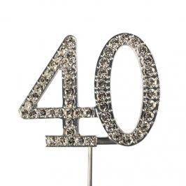 Decoración para tartas 40 Años Diamante