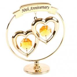Decoración para tartas 50 Aniversario Oro