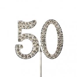 Decoración para tartas 50 Años Diamante