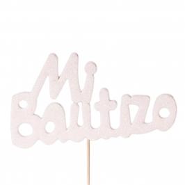 Decoración para Tartas Mi Bautizo Blanco - My Karamelli
