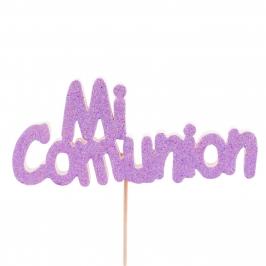 Decoración para Tartas Mi Comunión Lila - My Karamelli