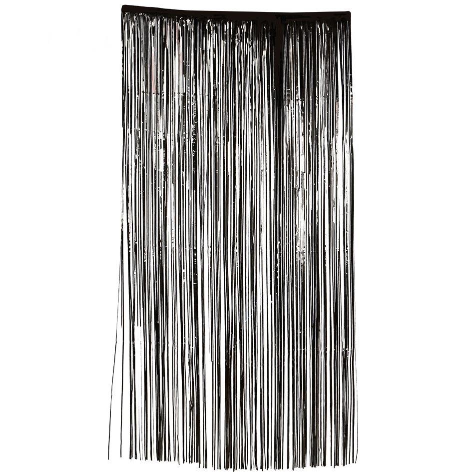 Decoración Puerta Cortina Negra 100x200 cm