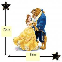 Decoración La Bella y la Bestia 78 cm
