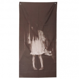 Decoración para Puerta Niña Fantasma 155 cm
