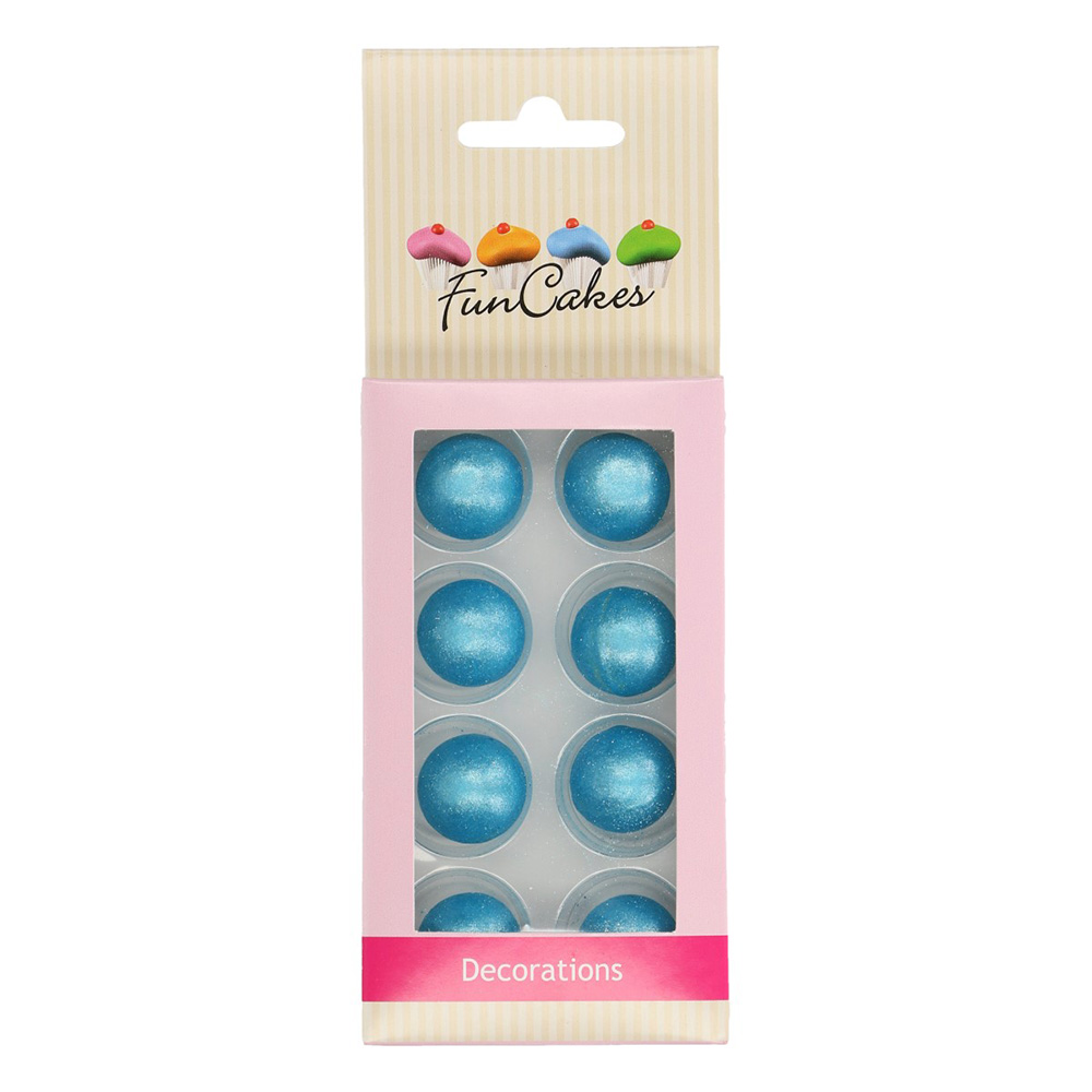 Decoraciones Bolas de Chocolate Azul