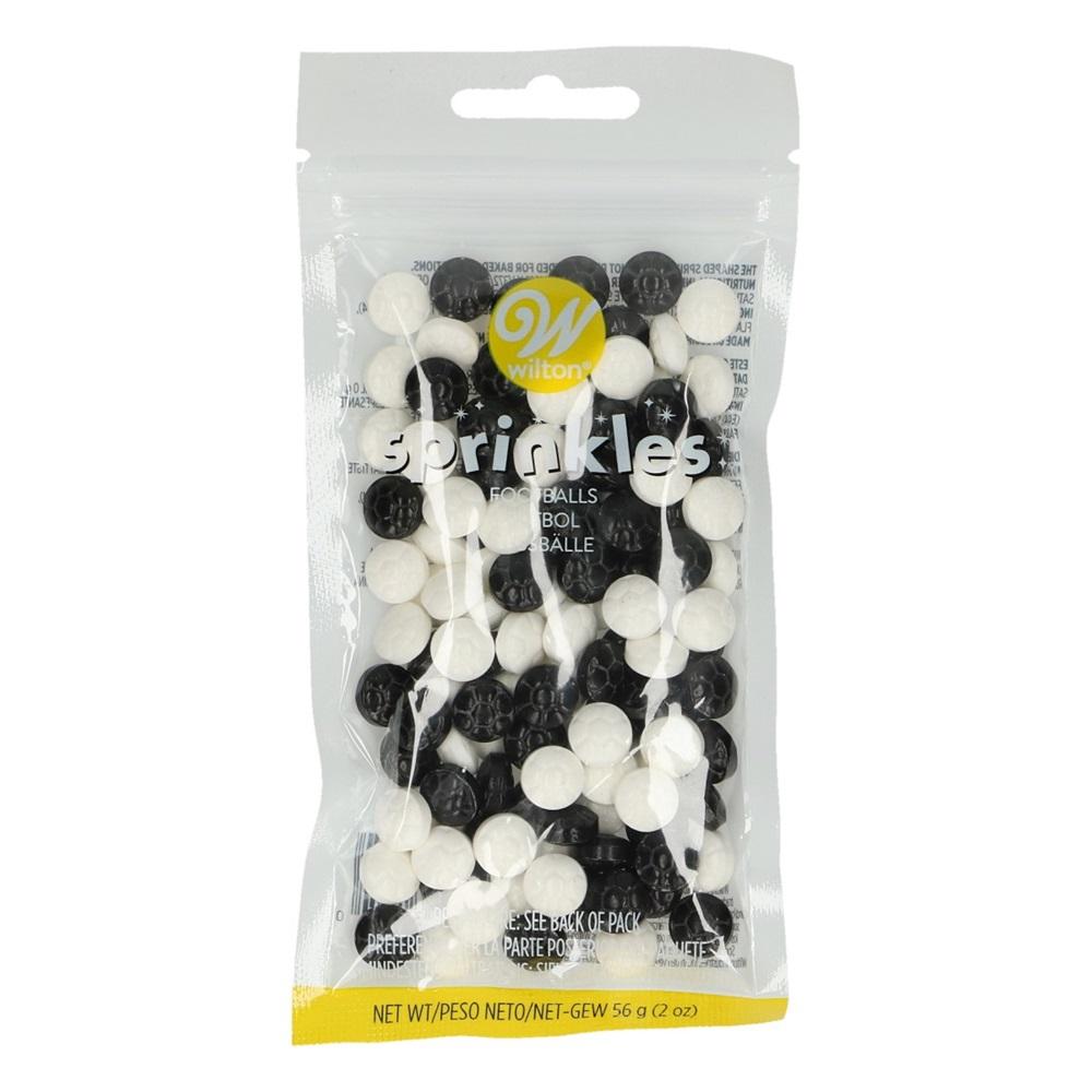 Decoraciones de Azúcar Balones Negros y Blancos 56 gr
