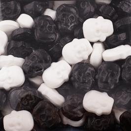 Decoraciones de Azúcar Calaveras Blancas y Negras - My Karamelli