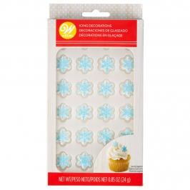 Decoraciones de Azúcar Copo de Nieve Azul