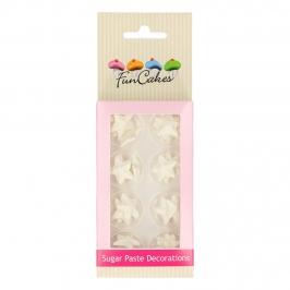 Decoraciones De Azúcar Estrellas Blancas