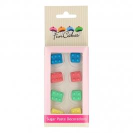 Decoraciones de Azúcar Ladrillos 8 unidades