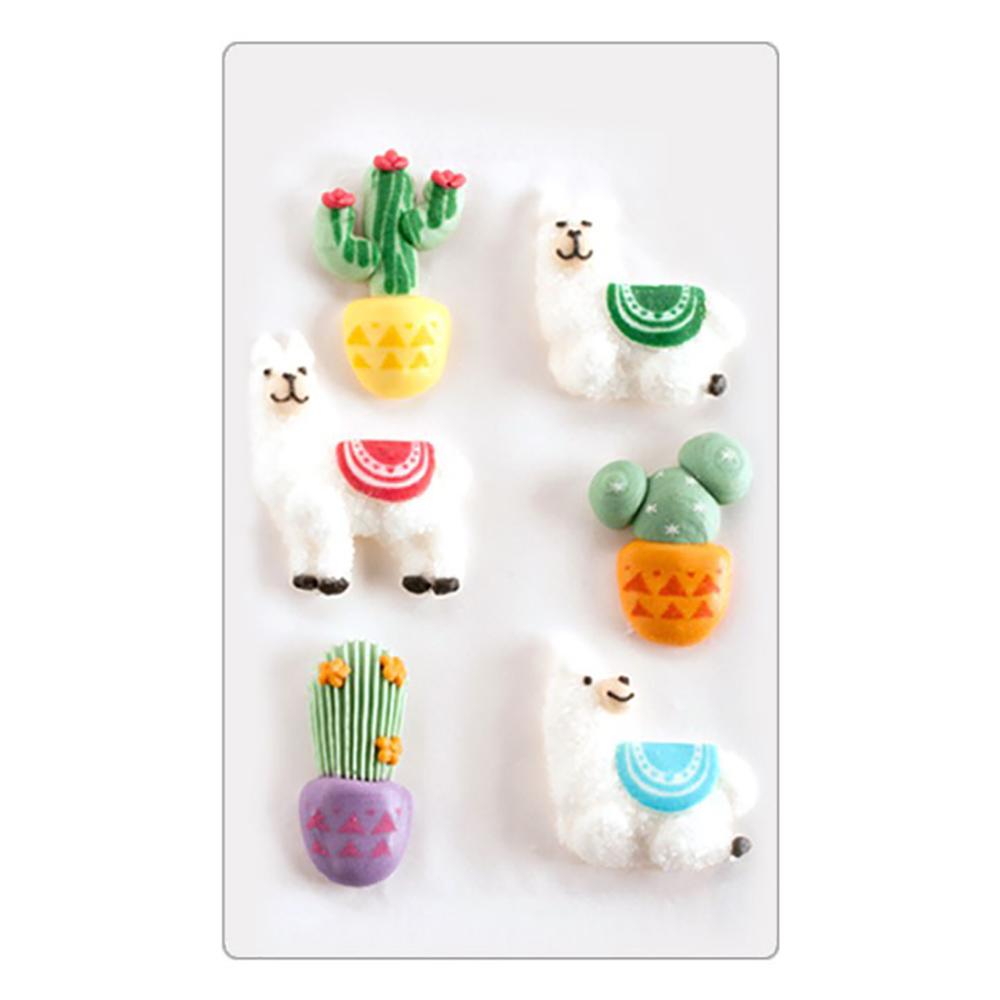 Decoraciones de Azúcar Llamas y Cactus