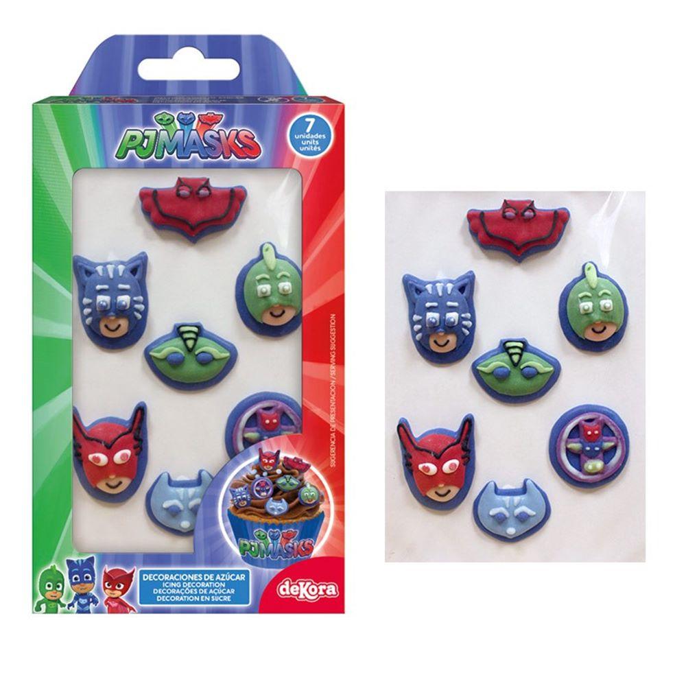 Decoraciones de Azúcar Pj Masks