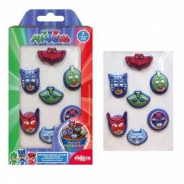Decoraciones de Azúcar Pj Masks