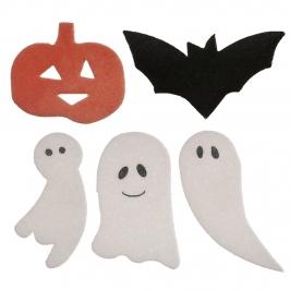 Decoraciones de Oblea Surtido Halloween 4 cm 128 ud