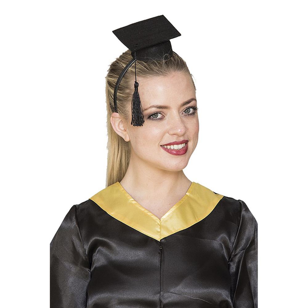 Diadema con mini birrete de graduación