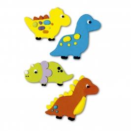 Juego de 4 decoraciones de azúcar Dinosaurios