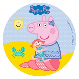 Disco comestible Peppa Pig 16 cm