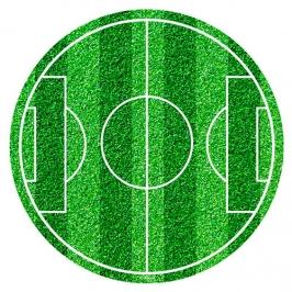 Disco de Azúcar Campo de Fútbol 20 cm